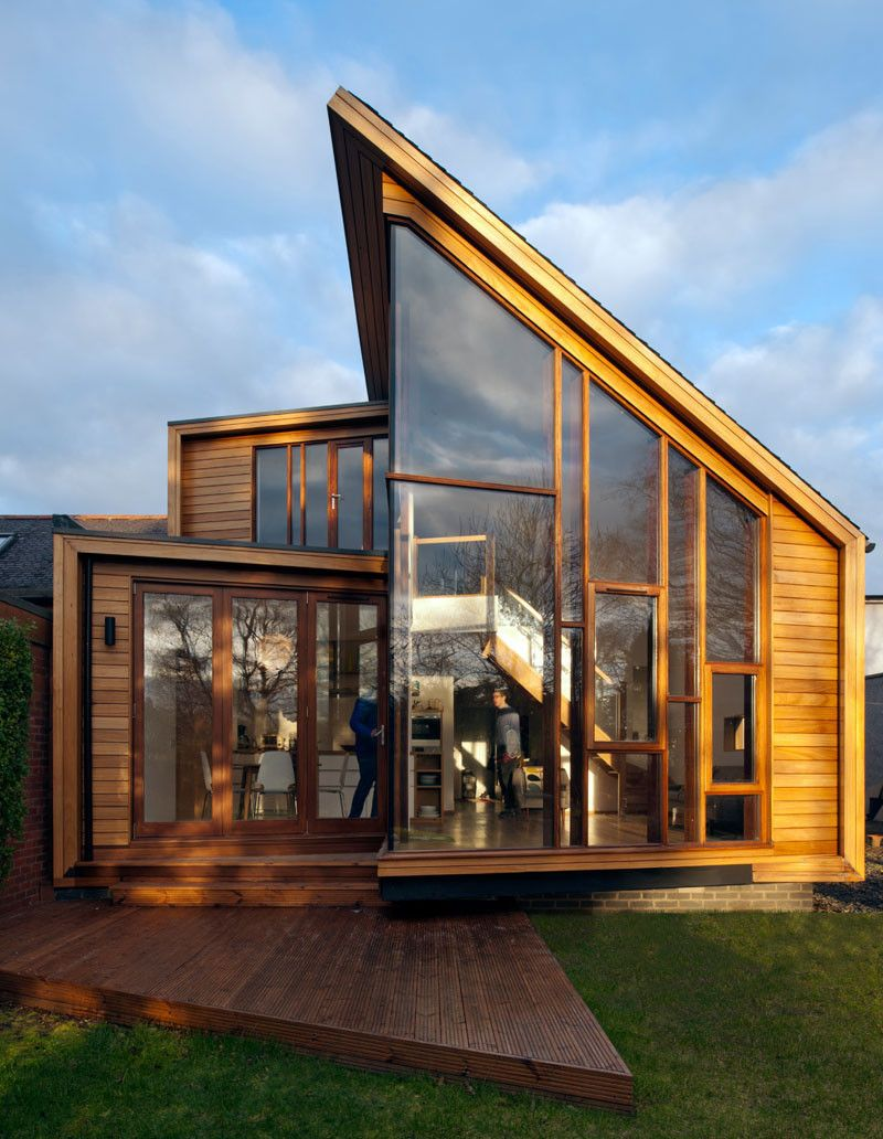 David Blaikie Architects have designed an extension on a home in Edinburgh, Scotland, for a family that has a strong affinity with Scandinavia. #homeextensions