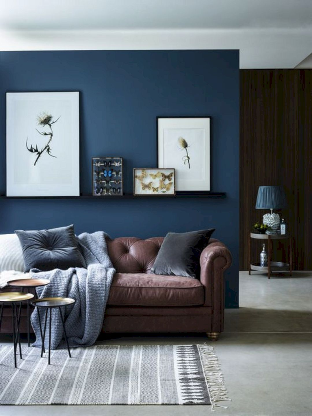Blue And Brown Living Room Walls Brown Couch Living Room B