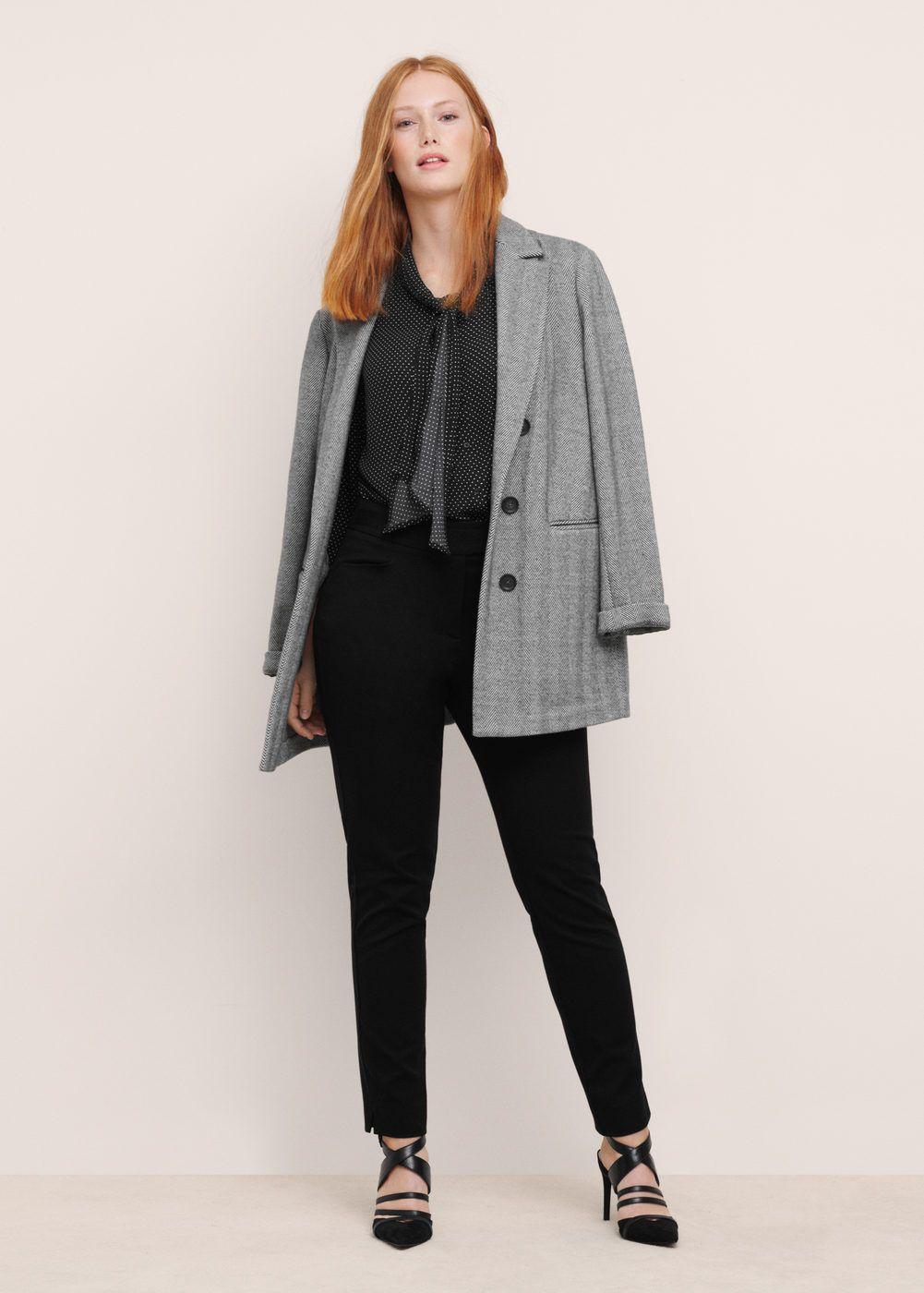 Anzughose aus baumwolle | VIOLETA BY MANGO