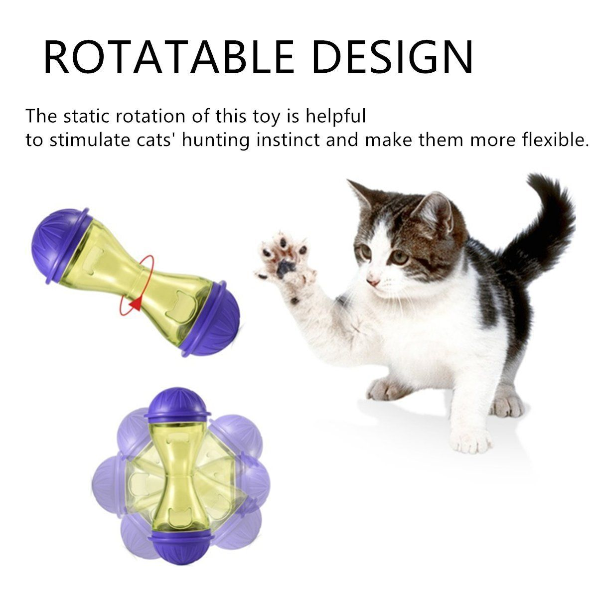 Zlyl Pet Cat Dog Feeder Food Dispenser Treat Ball Cat Toy Ball