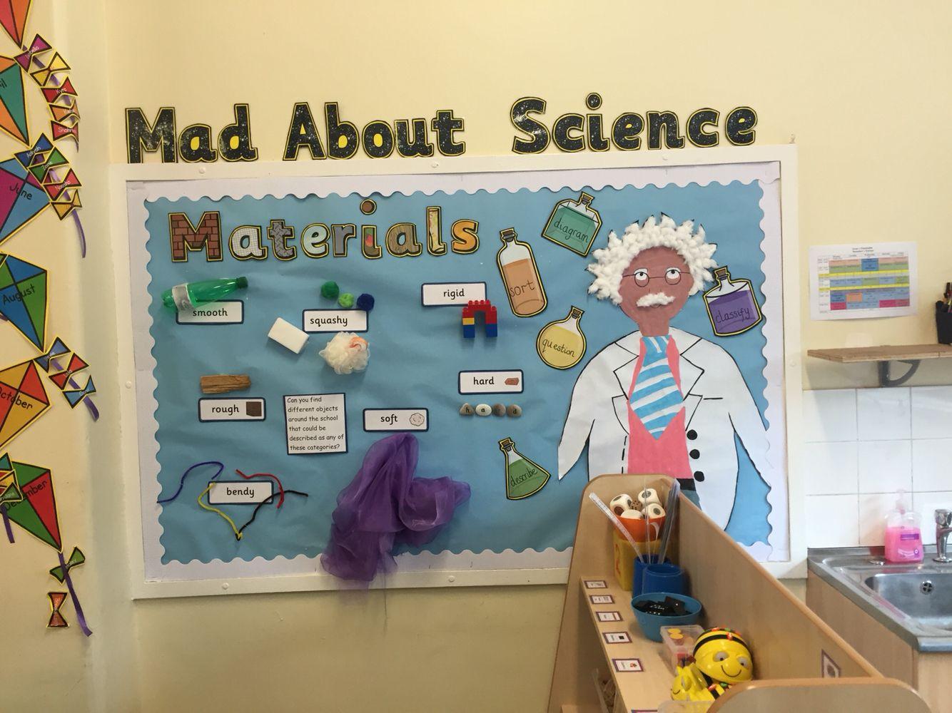 Mad Science Ks1 Display. Materials Ders