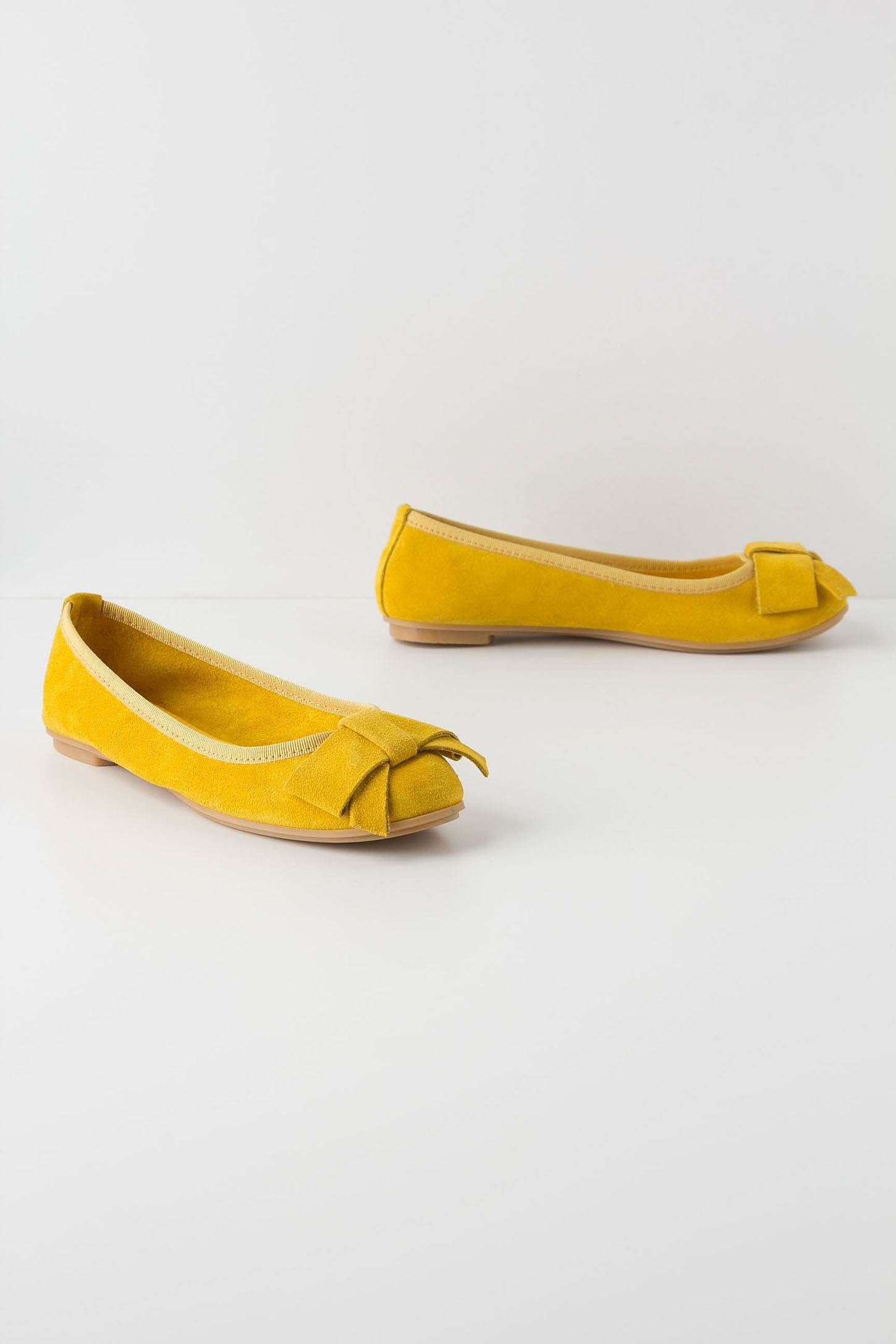 mustard yellow flats
