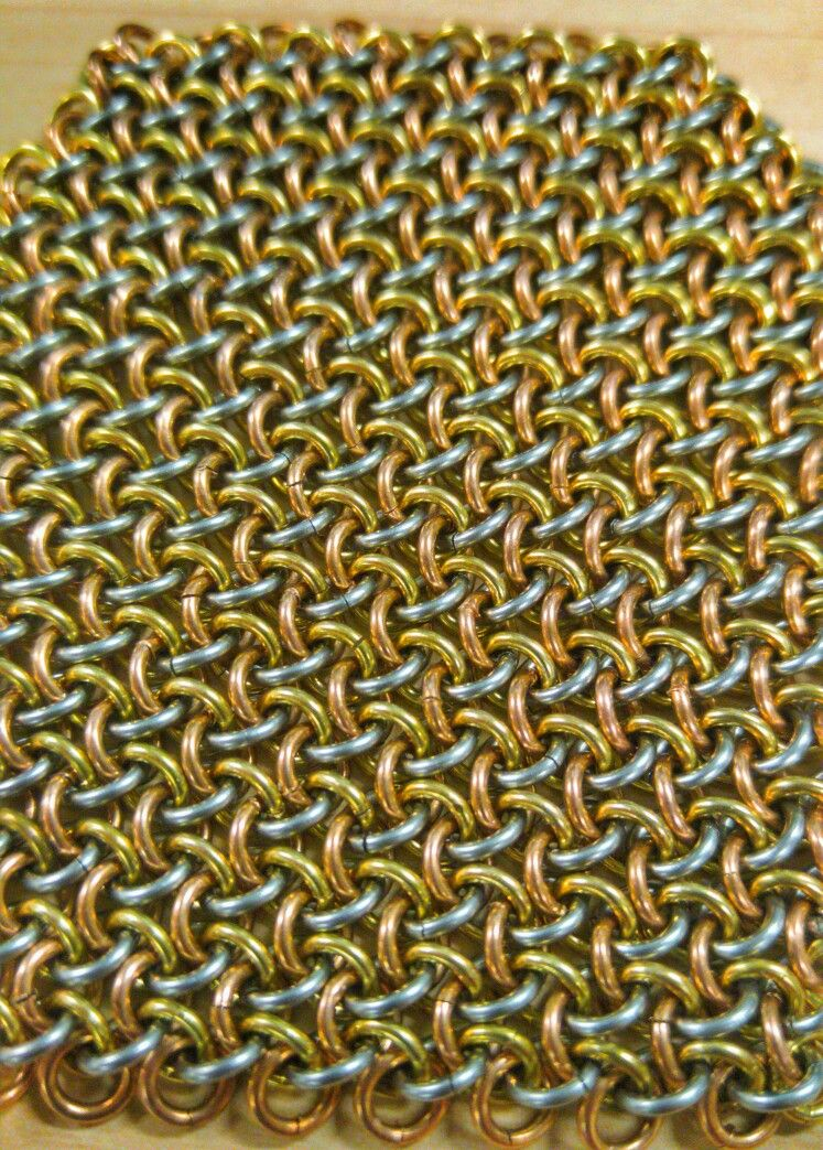 Hoodoo Hex In 19g 1 8 Stainless Bronze Brass Chainmail Diy Chainmail Patterns Chain Mail