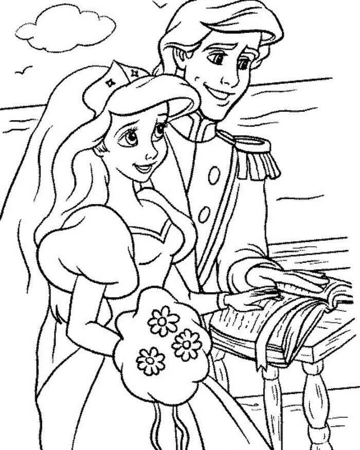 Ariel Little Mermaid Coloring Pages - AZ Coloring Pages ...