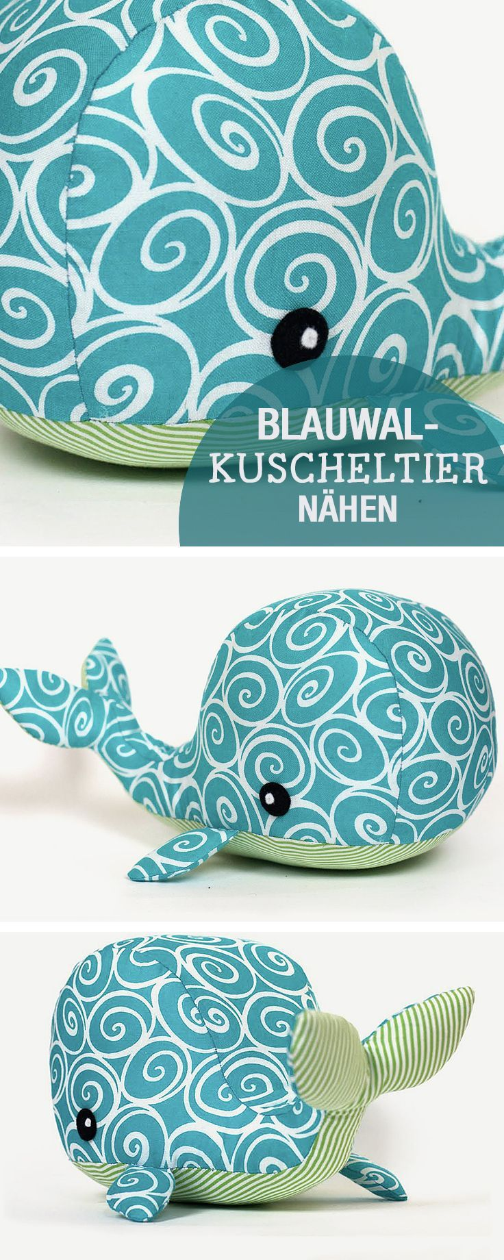 DIY-Nähanleitung: Blauwal Kuscheltier nähen, Nähen für Kinder / diy sewing tutorial: whale soft toy, kids sewing ideas via DaWanda.com #toysforbabies