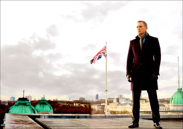 Daniel as James Bond in Skyfall