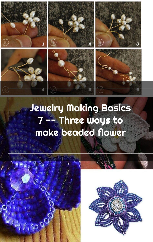 how to make beaded bracelets flower