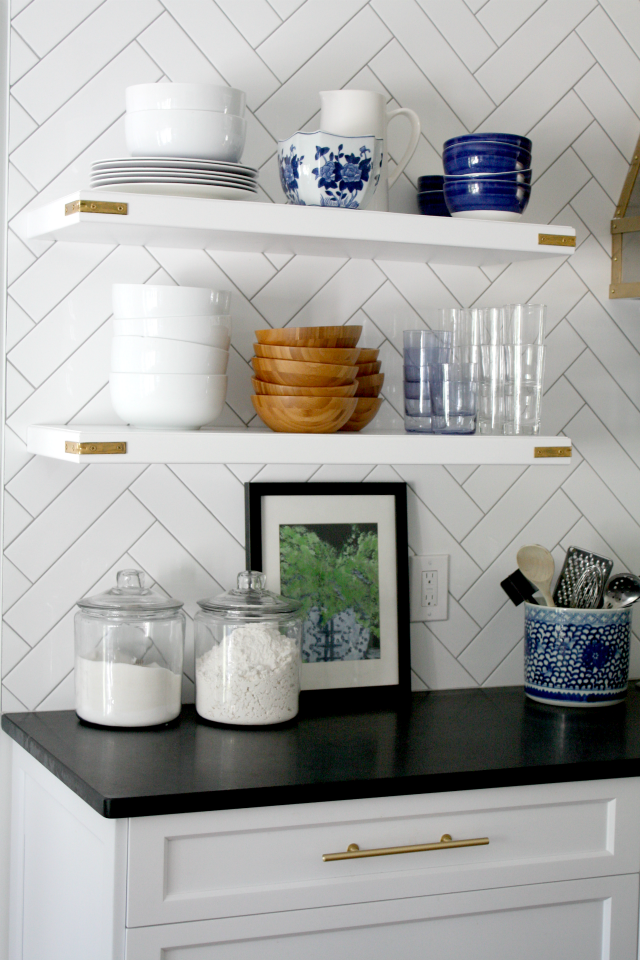 What To Put On Open Kitchen Shelves Video  Open Kitchens New Kitchen Shelves Design Inspiration