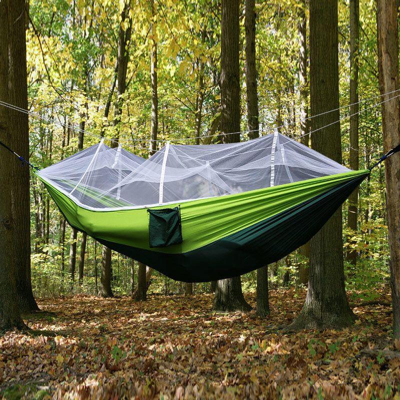 hamac tente rede en plein air camping hamacs toile lit de dormir moustique net tente suspendue nylon double tentes hamacs dc002