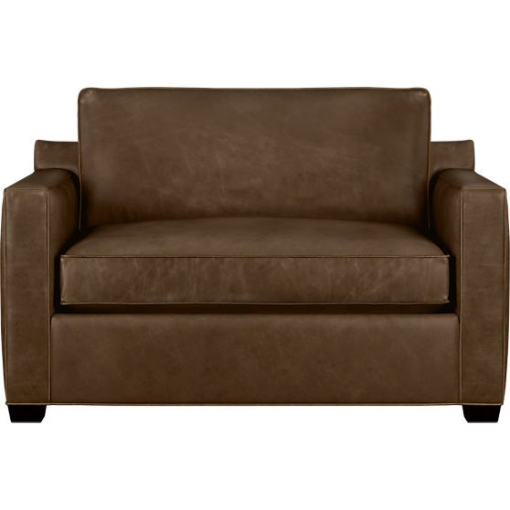 Davis Leather Chair And A Half Twin Sleeper Sofa Sofas