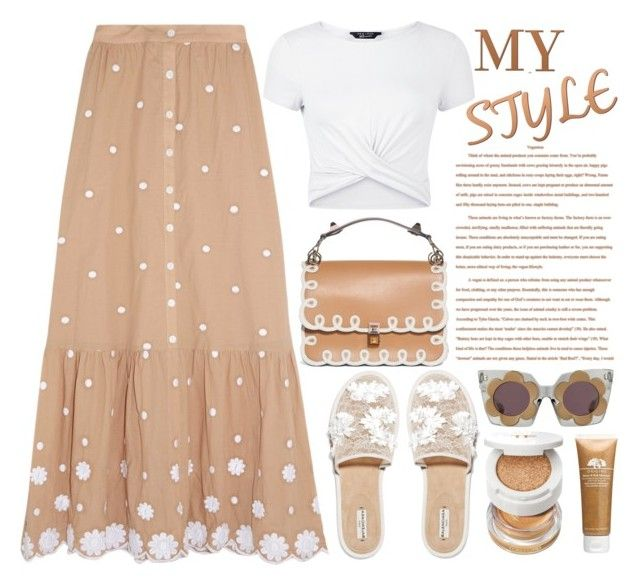 """My Style"" by emcf3548 ❤ liked on Polyvore featuring New Look, Balenciaga, Miguelina, Fendi, Tom Ford and Origins"