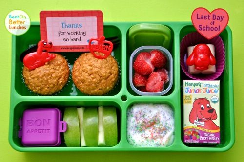 clifford the big red dog bento school lunch in go green lunch box school is cool pinterest. Black Bedroom Furniture Sets. Home Design Ideas