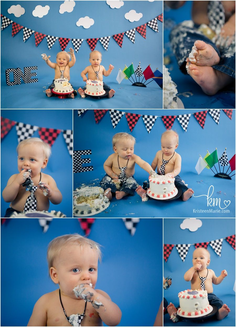 Race Car Cake Smash Session Indianapolis Child Photographer Race Car Birthday 1st Boy Birthday 1st Birthday Pictures