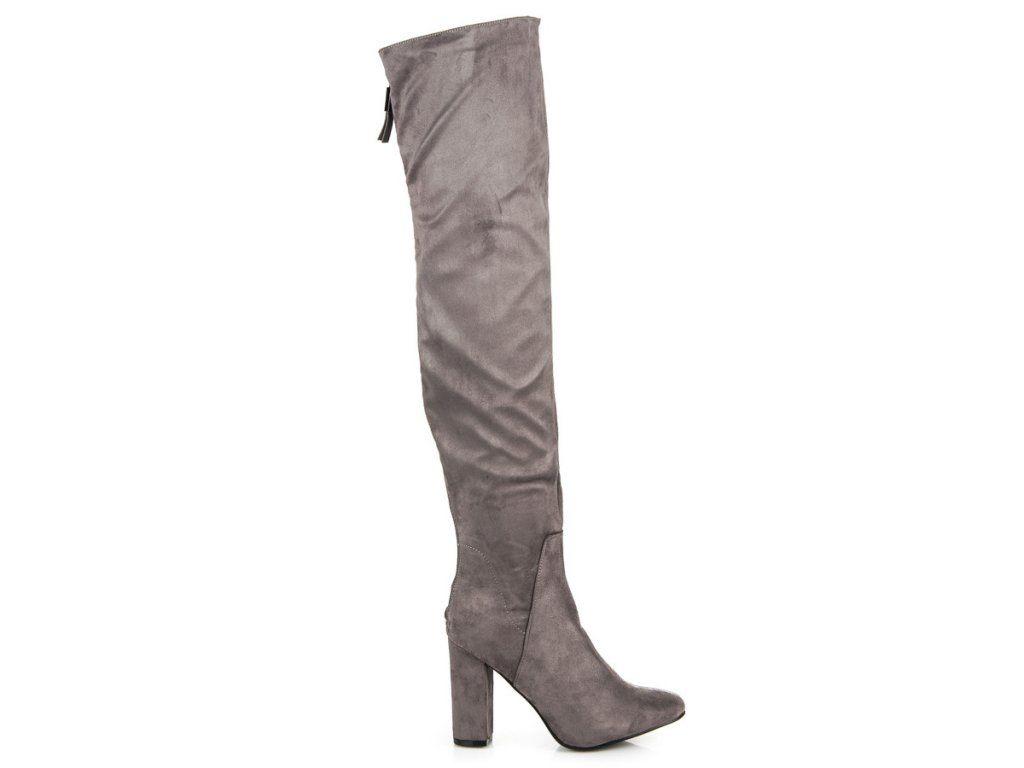 4a6cea0d78dde Tmavo modré čižmy nad koleno Lýdia | Čižmy nad kolená - NAJ.SK | Knee  boots, Boots, Shoes