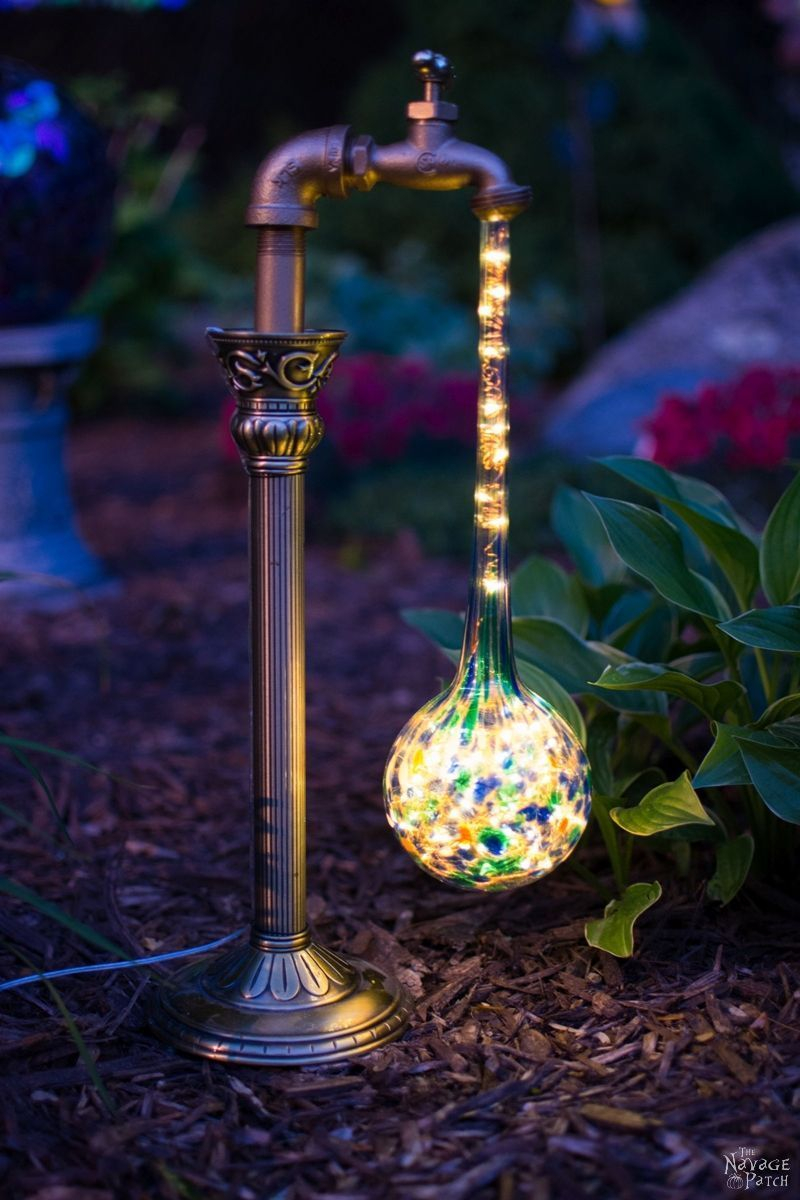 Diy Waterdrop Solar Garden Lights The Navage Patch Solar Lights Garden Solar Lights Diy Candle Upcycle