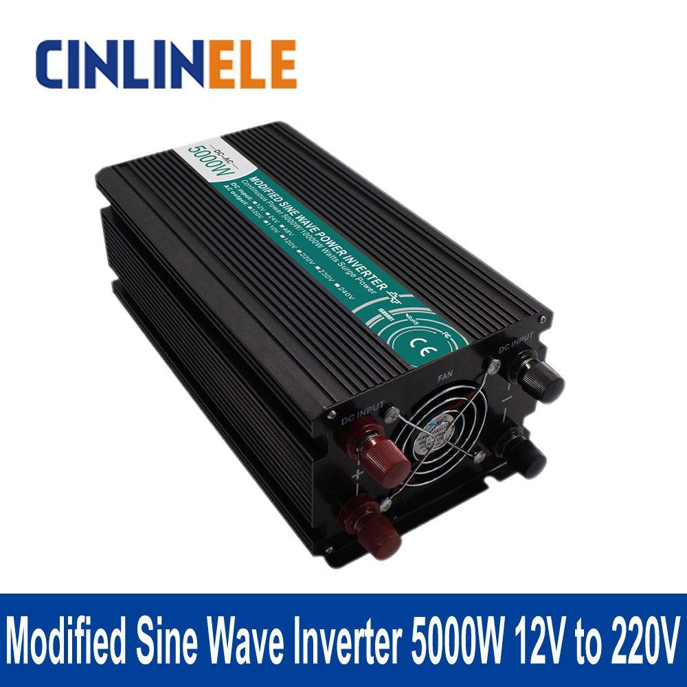 Modified Sine Wave Inverter 5000w Clm5000a 122 Dc 12v To Ac 220v 240v Surge Power 10000w Electrical Equipment Supplies