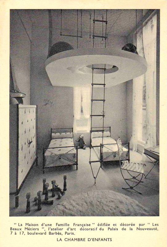 Andre_arbus_maison_d_une_famille_fran_aise_1937_exposition_universelle_chambre_enfant  | Spaces : Childs Play | Pinterest | Kids Rooms, Room And Interiors