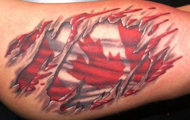 18 patriotic canadian flag tattoos tattoo tatting and canada tattoo. Black Bedroom Furniture Sets. Home Design Ideas
