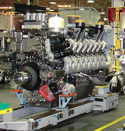 MTU America machines parts for large diesel engines while