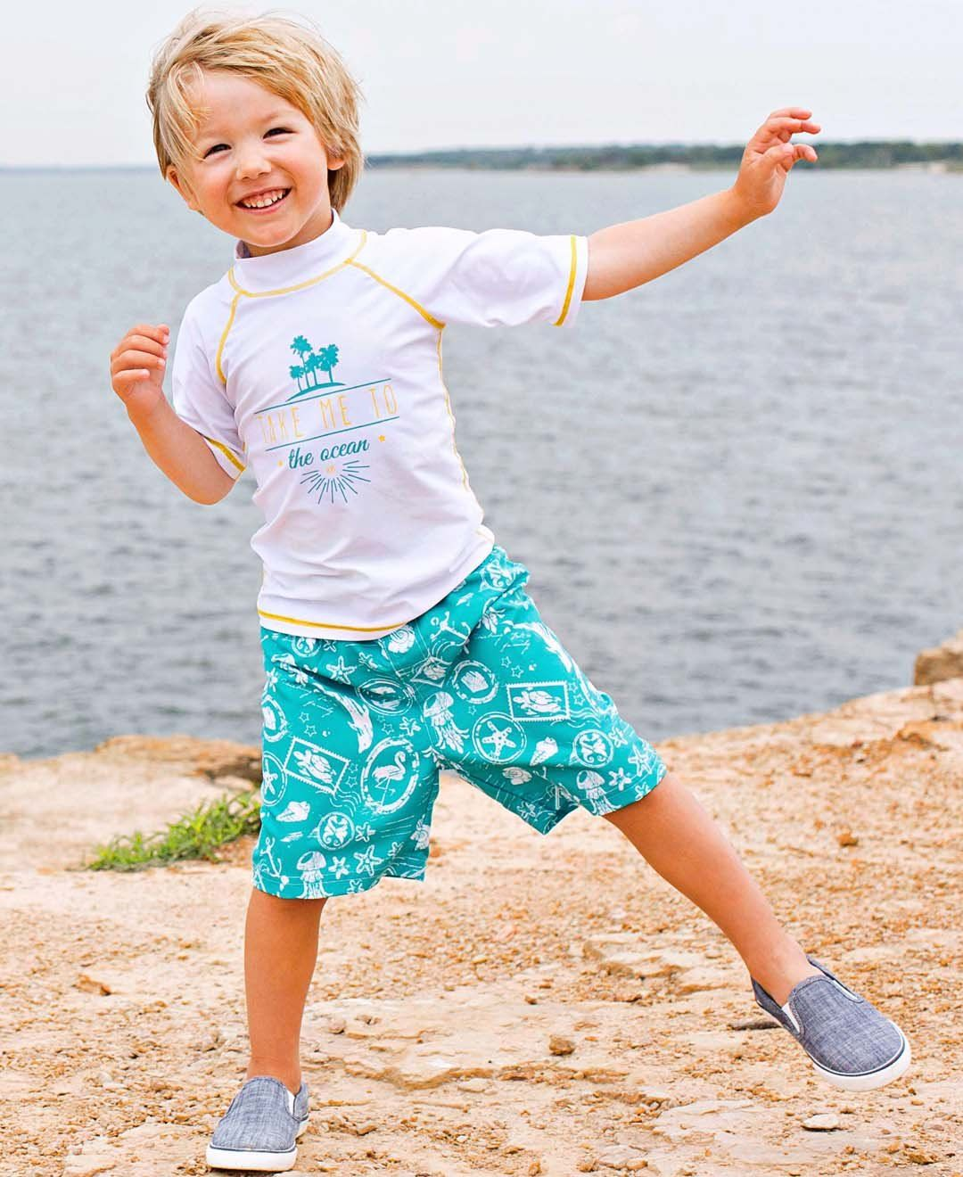 eee50a0ea67d9 RuggedButts Baby/Toddler Boys Adjustable Waist Turquoise Nautical Print Swim  Trunks Shorts 1218m * See this excellent product. (This is an affiliate  link ).