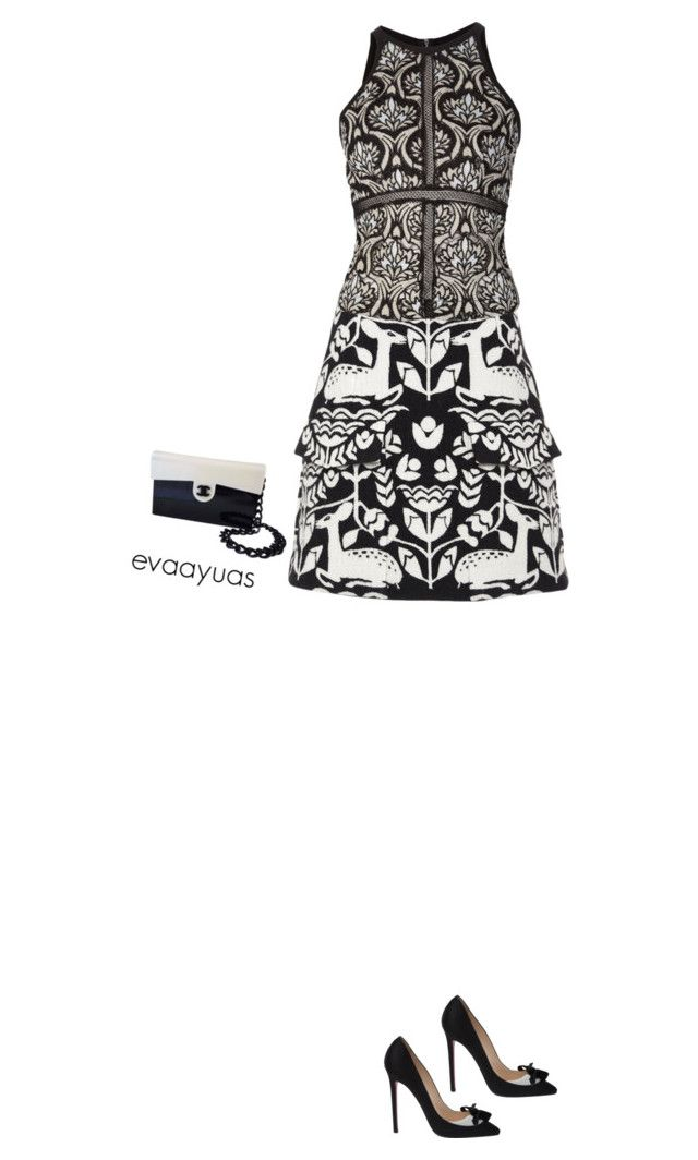 Untitled #1236 by evaayuas on Polyvore featuring polyvore fashion style Yigal Azrouël Honor Christian Louboutin women's clothing women's fashion women female woman misses juniors