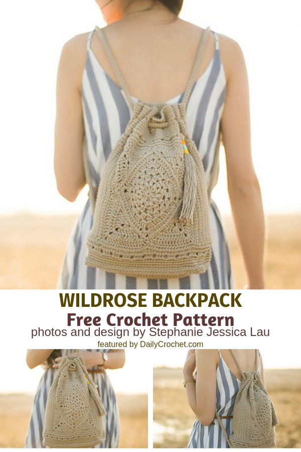 Stunning Crochet Backpack Perfect For Summer Outings - Knit And Crochet Daily
