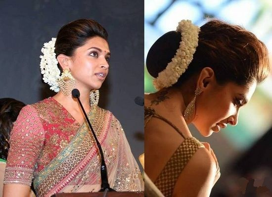 10 Celebrities And Their Floral Jewellery Bridal Hair Buns Indian Hairstyles Indian Bridal Hairstyles
