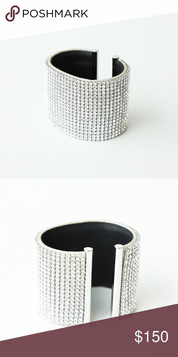 Daniel Swarovski Silver Crystal Cuff Bracelet | Crystal cuff ...