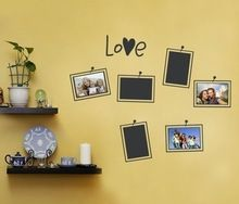 free shipping Picture and Photo Frame Layout Decal - Photo Love - Vinyl Wall Sticker,R2015(China (Mainland))