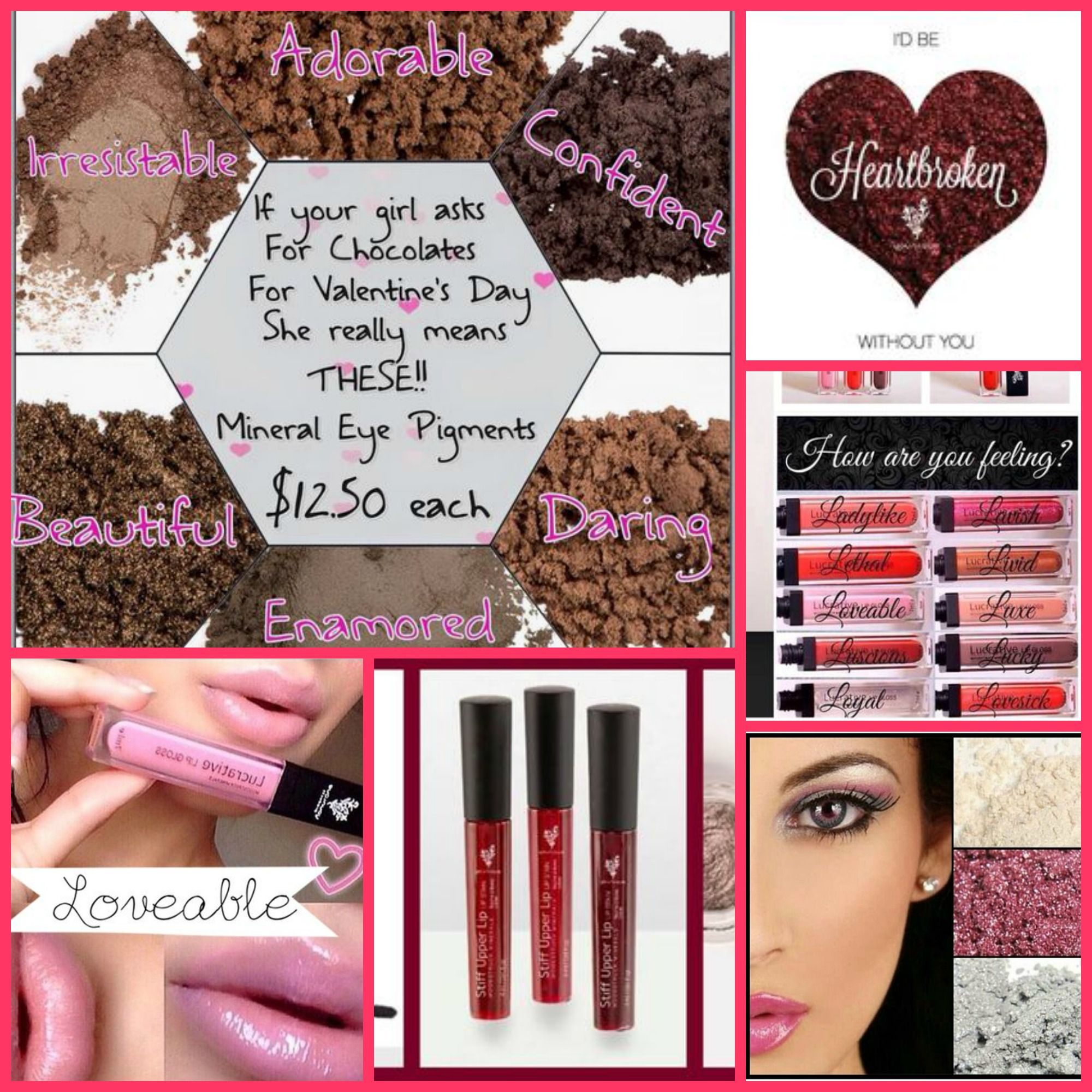 Ladies!! Get that perfect makeup look in time for Valentine's Day! <3 Remember, purchases of $50 or more get you FREE shipping!! take a look at my website here! https://www.youniqueproducts.com/akyle/products/landing