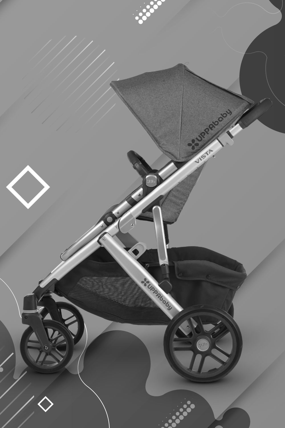 Keep it Neutral with Uppababy Vista in Jordan Charcoal