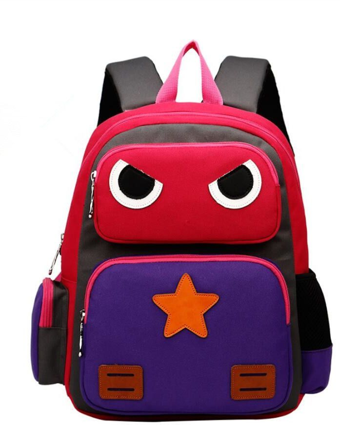 1789b50e8b4d Super Cute NEW 2016 Cartoon Robot High-Quality Waterproof Children's Backpack  4 Colors