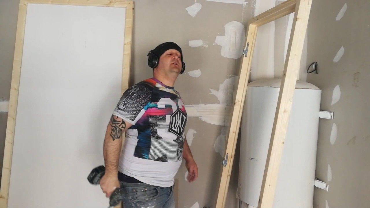 Habiller Une Poutre En Placo astuce pour fixer une porte contre un mur en plaque de
