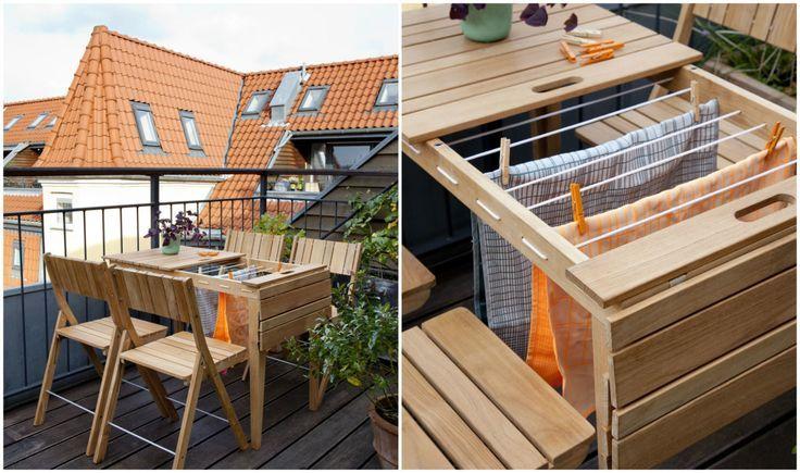 Ƹ̴Ӂ̴Ʒ Coup de cœur : une table de balcon multi-fonctions ! Ƹ̴Ӂ̴Ʒ | Table de balcon, Petite ...