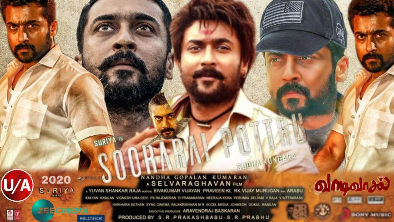 Soorarai Pottru Official Poster In Hindi Poster Movies Movie Posters