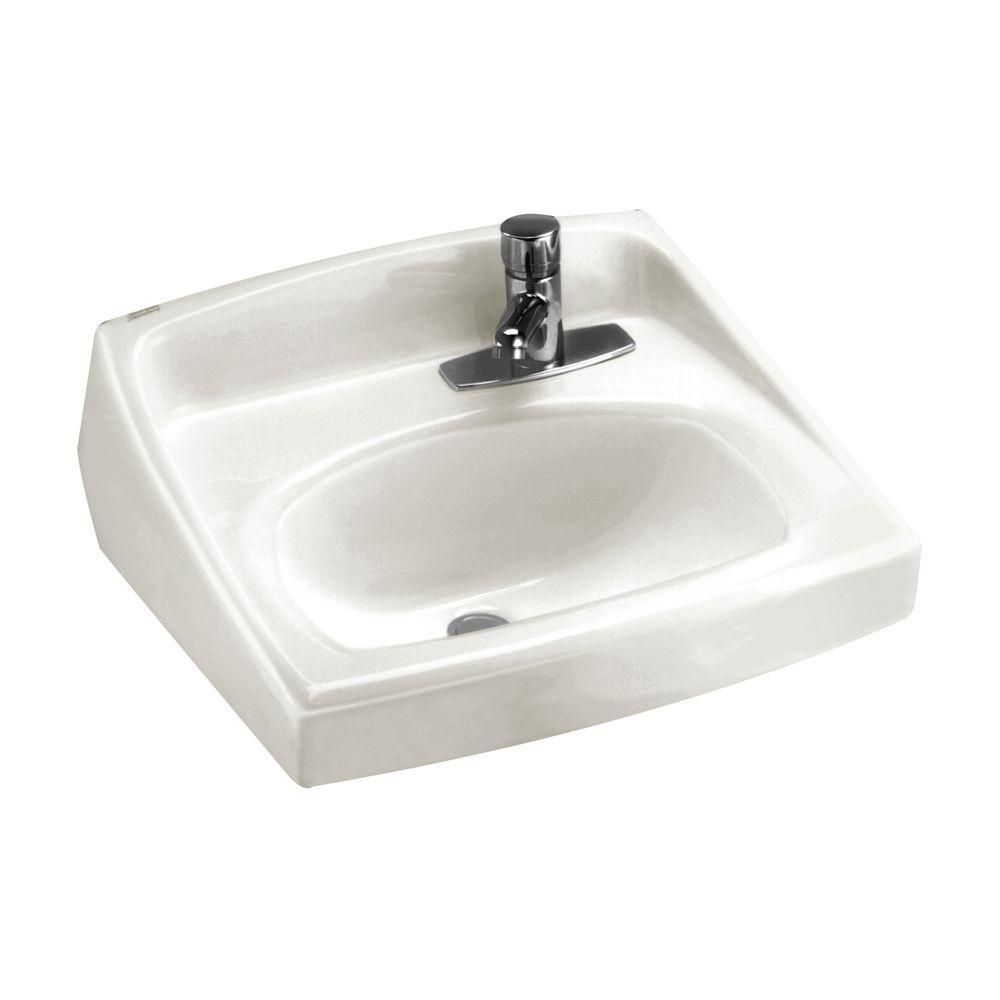 American Standard Lucerne Wall Hung Bathroom Sink in White with ...