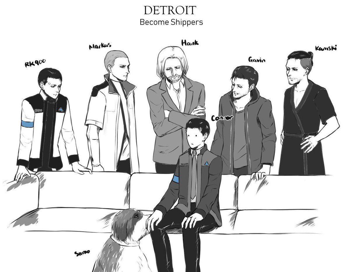 RK900,Markus, Hank, Gavin, Kamski, Sumo, Connor | Detroit