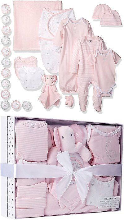 21d5ce881c9 Socks and Tights 147284: Sterling Baby By Vitamins Girls 12 Piece Layette  Boxed Gift Set For, Pink, 0 3 -> BUY IT NOW ONLY: $65.88 on eBay!