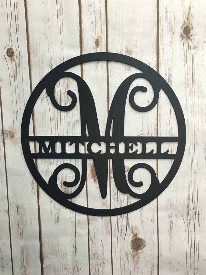 Circle Vine Monogram Initial and Family Name | Initials