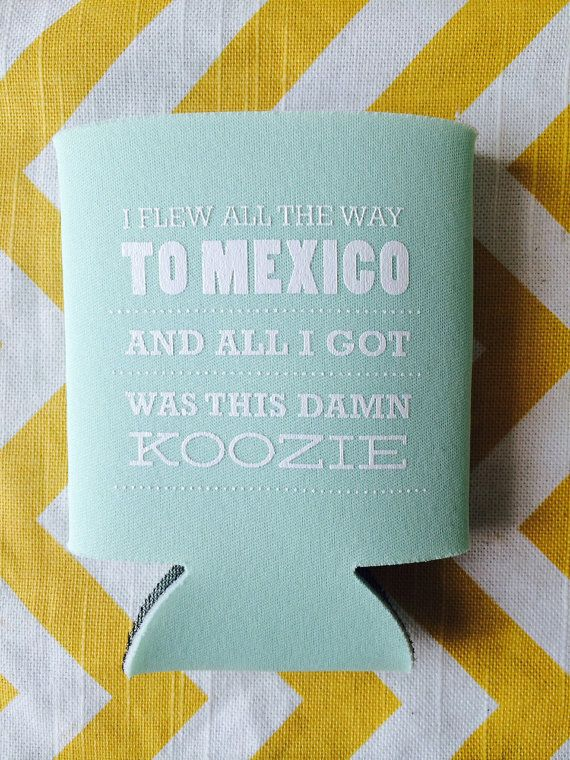 Mexico Destination Wedding Koozies by RookDesignCo on Etsy