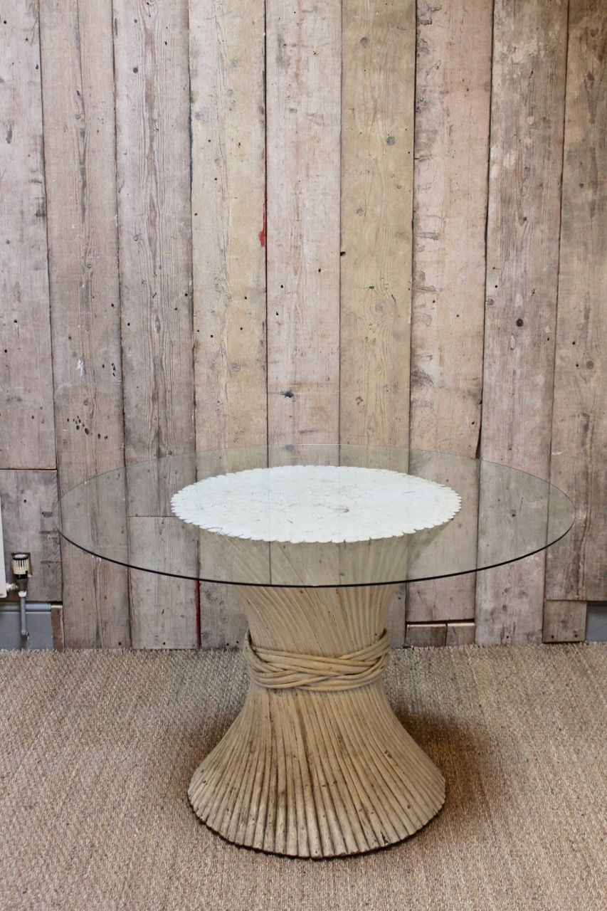 A Wonderfully Stylish Twisted Wood Dining Centre Table With A