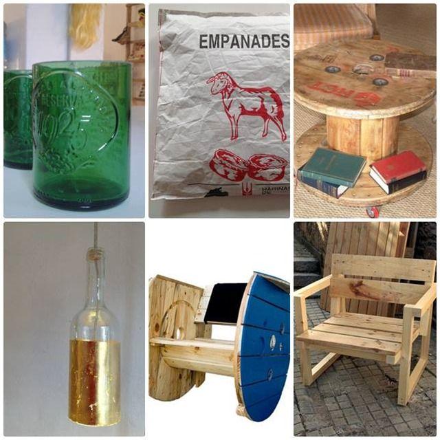 Artilujos muebles y decoraci n a partir de materiales - Reciclado de muebles ...