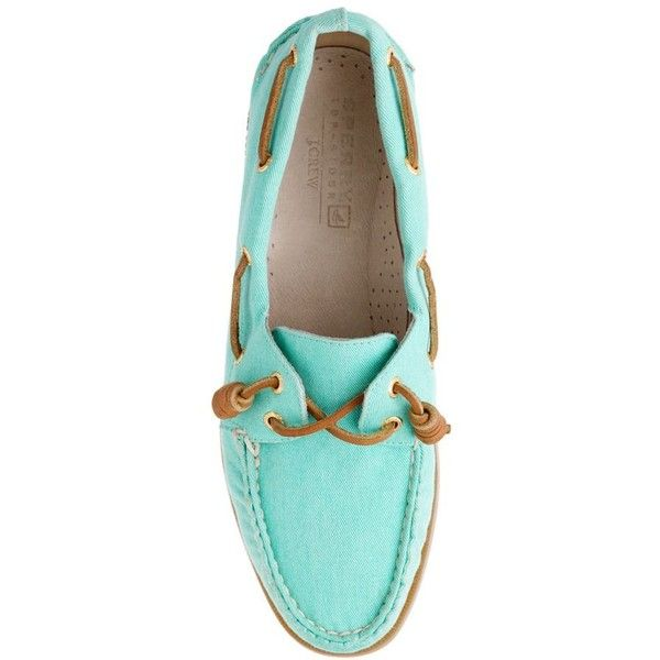 Sperry Top-Sider® Authentic Original 2-Eye Boat Shoes In Twill ($70) ❤ liked on Polyvore