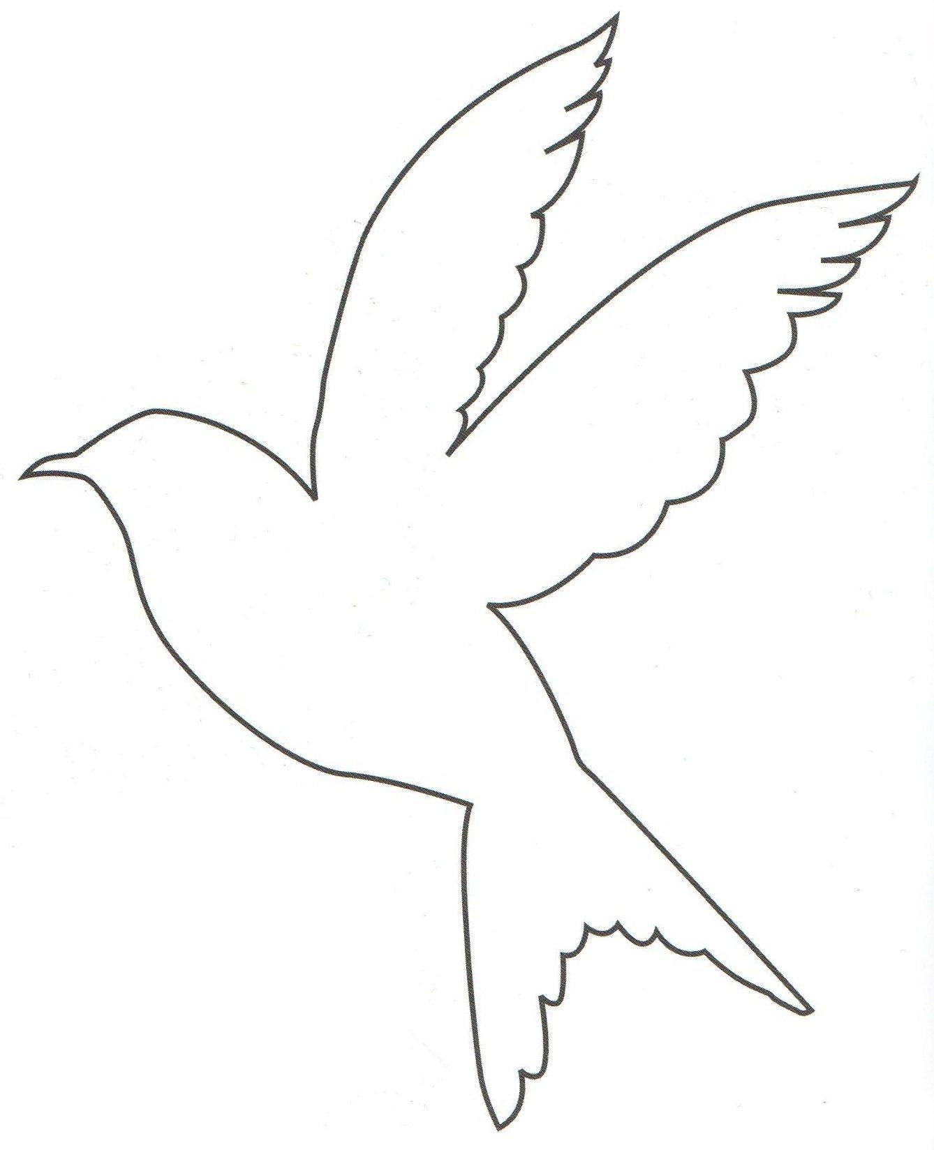 Bird Outline Bird Outline Bird Template Paper Flower Template