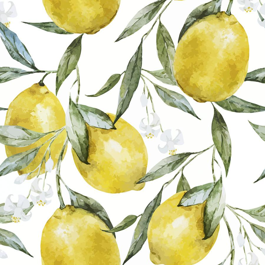 Life Of Lemons In 2021 Floral Wallpaper Removable Wallpaper Leaf Wallpaper