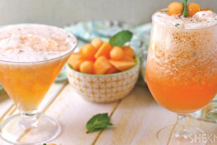 CANTALOUPE, MINT & CAMPARI SLUSHIE - from 5 Party-Perfect Frozen Drinks for the Fourth of July