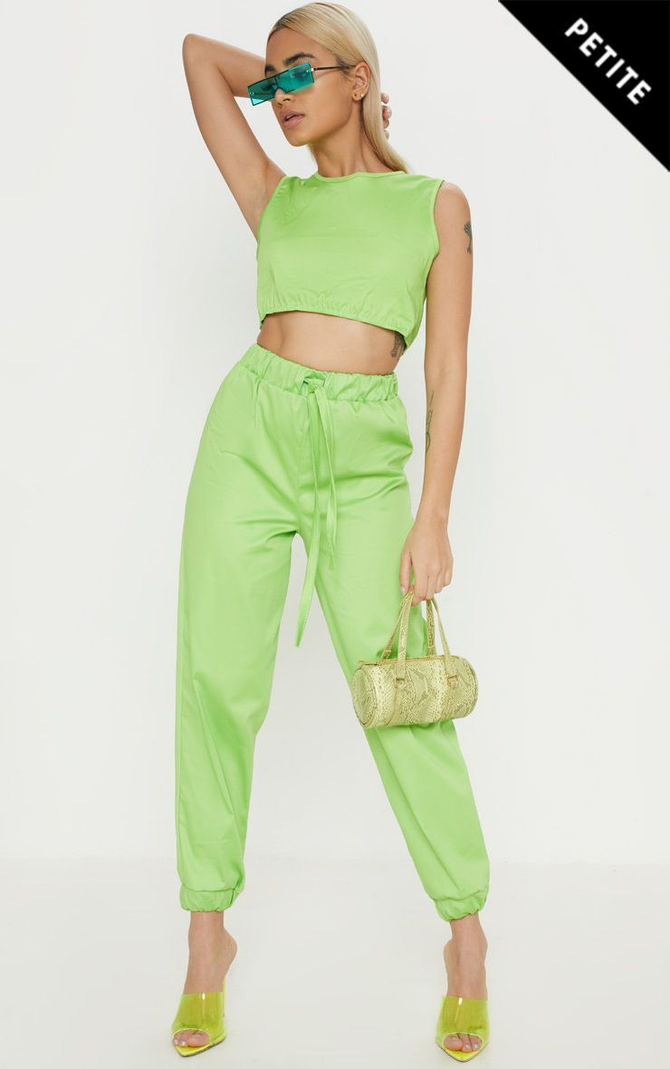 8fd600886c Petite Neon Lime Cargo Joggers in 2019 | Products | Petite outfits ...