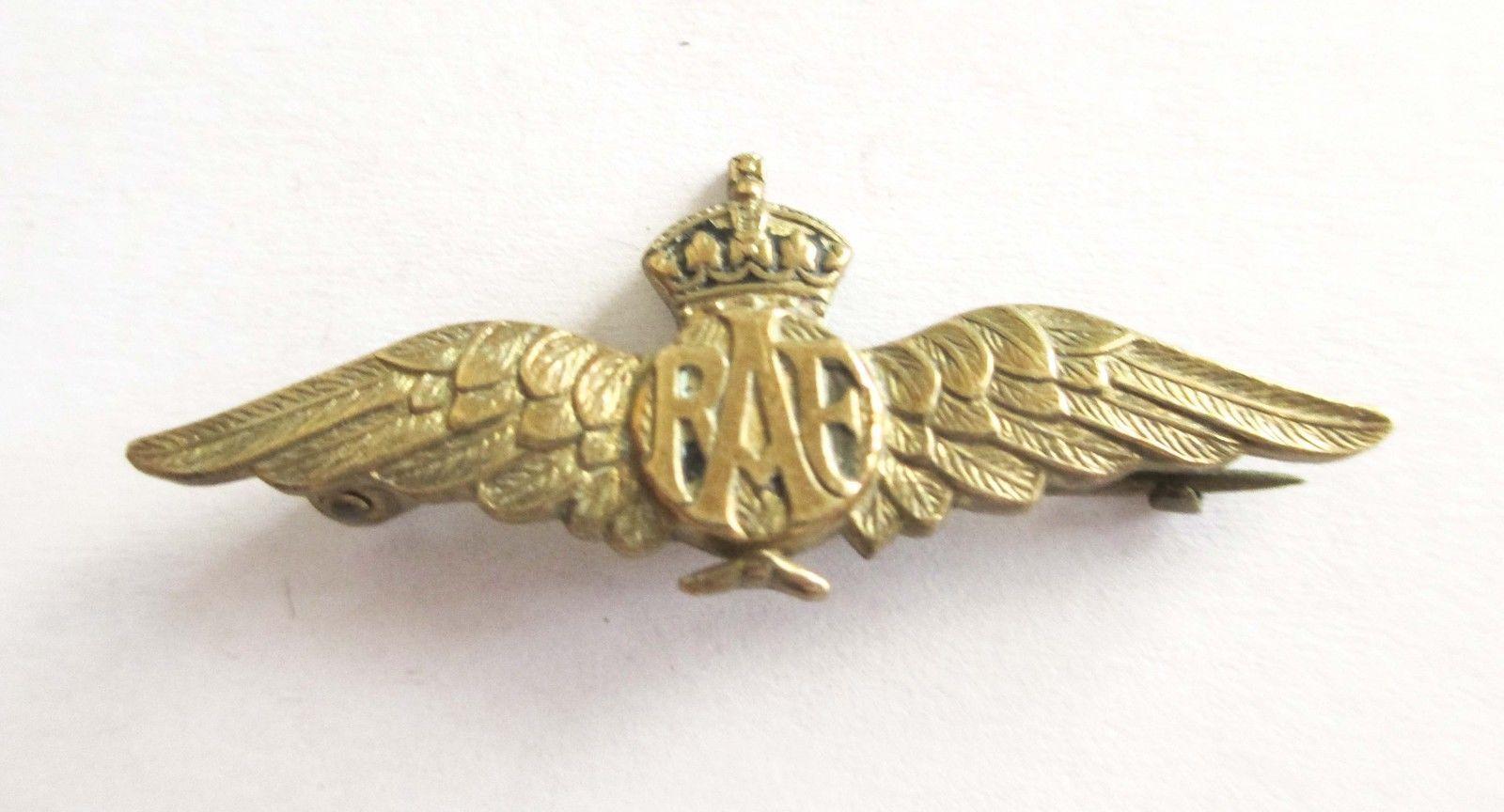 SWEETHEART LAPEL BADGE pin brooch ROYAL AIR FORCE RAF