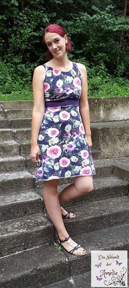 Schnittmuster für ein luftiges Sommerkleid, mit Kappärmeln