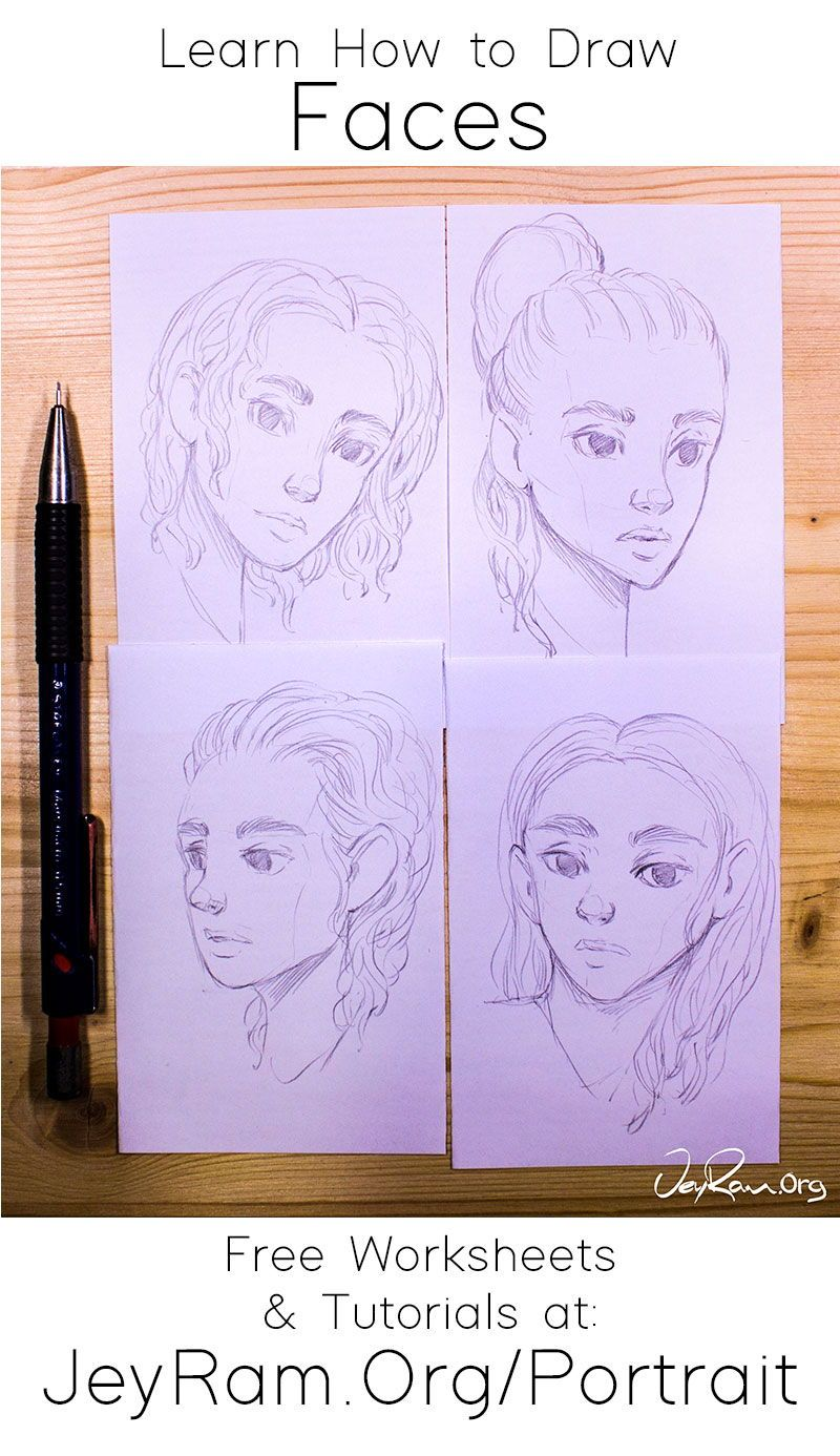 How To Draw Faces Tutorial Series In 2020 Face Drawing Drawings Improve Drawings